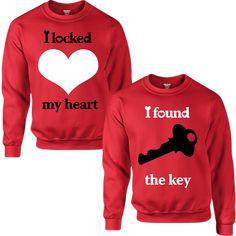 I LOCKED MY HEART I FOUND THE KEY COUPLE SWEATSHIRT - TeeeShop from Teee Shop