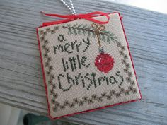 Garden of Stitches: Little Christmas Ornament