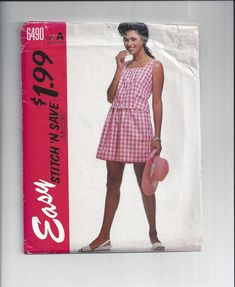 McCall's 6490 Stitch N Save Pattern for by VictorianWardrobe