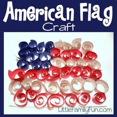 a list of flag craft summer activities for kids