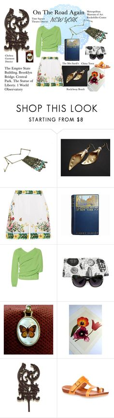 """""""On the Road Again - New York"""" by seasidecollectibles ❤ liked on Polyvore featuring Dolce&Gabbana, Delpozo and vintage"""
