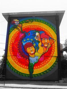 Street Art Museo a Cielo Abierto in Chile, Santiago, San Miguel 1