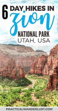 The 6 best Zion National Park Hikes! Zion National Park in Utah is one of the most visited parks in the United States and for good reason. Explore this outdoor adventure wonderland on foot with these epic day hikes, plus everything you need to know in thi