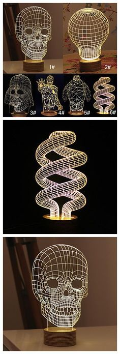 These cool 3D LED table lamp can be such a highlight for your bedside. Get it here.