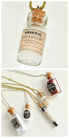 "DIY mini apothecary bottles - The Graphics Fairy Done by ""My So Called Crafty Life"" & found on tumbler"