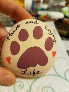 Painted Rock Ideas - Do you need rock painting ideas for spreading rocks around your neighborhood or the Kindness Rocks Project? Paws and enjoy life.