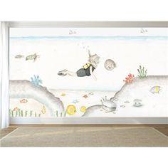 Lindo Bumble Abejas Niños Dormitorio de Niños de Pared Pegatina de vinilo artística Mural Sala De Juegos