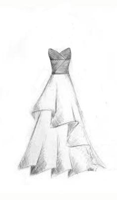 My draw - - Dress Design Drawing, Girl Drawing Sketches, Dress Design Sketches, Fashion Design Sketchbook, Fashion Illustration Sketches, Fashion Design Drawings, Drawing Drawing, Cute Easy Drawings, Girly Drawings