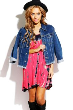 #1015store.com #fashion #style bright pink/black tie dye shift sundress-$15.00 Pink Sundress, Tie And Dye, Black Tie Dye, Pink Outfits, Boho Outfits, Cute Sundresses, Crop Top And Shorts, Affordable Dresses