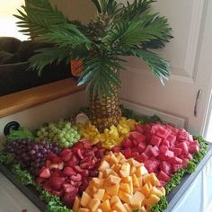 New fruit party food appetizers ideas Fruit Tables, Fruit Buffet, Dessert Tables, Food Tables, Dessert Platter, Food Buffet, Party Food Platters, Party Trays, Party Buffet