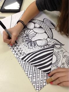 Art at Becker Middle School: Zentangle Still Lifes