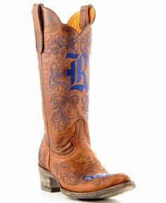 Rice University Gameday Cowboy Boots