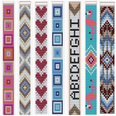 off loom beading techniques Bead Embroidery Patterns, Beading Patterns Free, Seed Bead Patterns, Beaded Jewelry Patterns, Weaving Patterns, Beaded Embroidery, Beading Ideas, Bead Jewelry, Mosaic Patterns