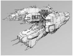 Nexus Spaceship concepts by Károly Gőgös on ArtStation.