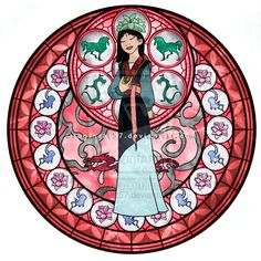 Mulan - Kingdom Hearts Stain Glass