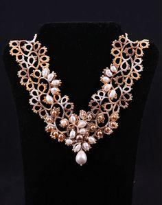 Necklace OPENWORK . Fully handmade. FREE by DASHARTSTUDIO on Etsy, $259.00