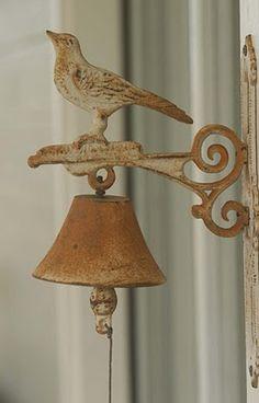 rustic bird bell
