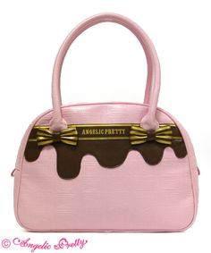 Lolibrary | Angelic Pretty - Bags - Melty Ribbon Chocolate Boston Bag