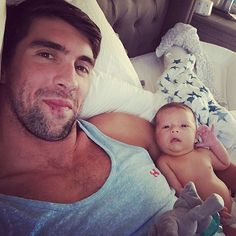 Michael Phelps Shares Adorable Photo of Son: 'Boomer Says What's Up Y'all!'