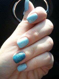 Smurf flow. Blue Nail Polish