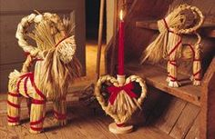 Christmas in Sweden. The Julbock (Christmas goat) brings presents, and is a popular Christmas ornament. The straw is thought to represent Christ's 1st earthly resting place in the manger.