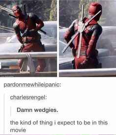 Deadpool being Deadpool. 😂👌🏻 - Visit to grab an amazing super hero shirt now on Marvel Funny, Marvel Memes, Marvel Dc Comics, Marvel Avengers, Deadpool Funny, Deadpool Stuff, Deadpool Movie, Marvel Films, Comics