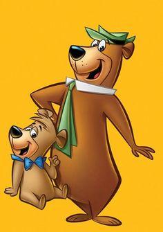 Yogi Bear and Hey Booboo. A pickinick basket. Yogisms much like Yogi Berra Cartoon Kunst, Cartoon Cartoon, Comic Kunst, Cartoon Shows, Cartoon Drawings, Cartoon Illustrations, Classic Cartoon Characters, Favorite Cartoon Character, Classic Cartoons
