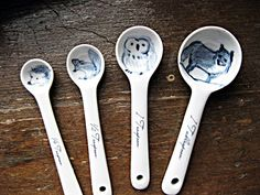 For the cook with a soft spot for Cute Overload: Forest Animal Ceramic Measuring Spoons.
