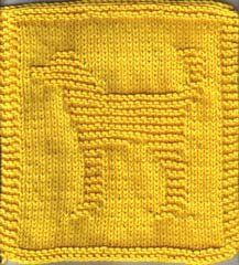 Free Knitting Pattern - Dishcloths & Washcloths : Dougie the Doggy Cloth