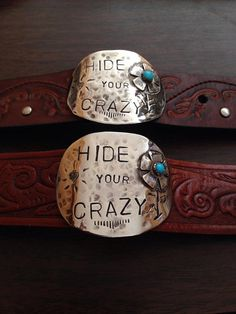LEATHER CUFF BRACELET - Hide Your Crazy on Etsy, $60.00