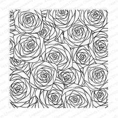 Impression Obsession Cling Stamp SKETCHED ROSES Set CC187