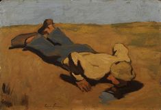Albin Egger-Lienz – Die Quelle, 1923, Öl auf Karton, 50,5x72,5 cm Impressionism, Austria, Paintings, Inspired, Room, Inspiration, Art, Holy Night, Auction