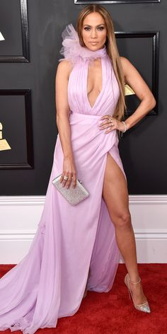 See All the Celebrity Looks from the 2017 Grammy Awards Red Carpet - Jennifer Lopez from InStyle.com