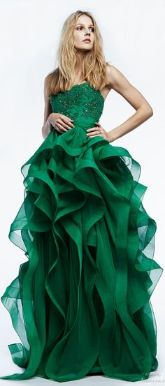 Reem Acra Resort 2015  elegant gown and i love the color