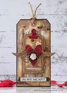 In My Heart - created for Simon Says Stamp Monday Challenge Tag It