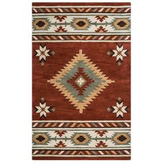 Buy the Rizzy Home Navajo Red 5 x 8 Direct. Shop for the Rizzy Home Navajo Red 5 x 8 Southwest Hand-Tufted Wool Rug and save.