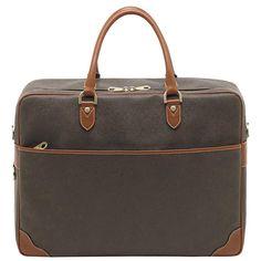 MULBERRY Overnight Briefcase Scotchgrain / Mole-Cognac $1,000