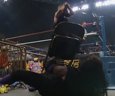 WWF / WWE - King of the Ring 96 - Mankind Dives into a Chair held by Undertaker