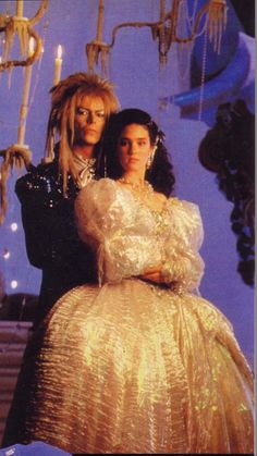 David Bowie and Jennifer Connelly from the movie Labyrinth.