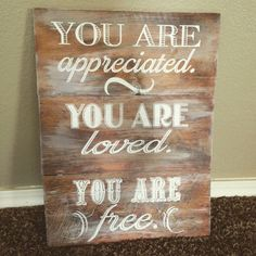Rustic barnwood You Are sign 11 x 16.5 custom by lauraleidesign