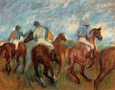 Fan account of Edgar Degas, a French artist famous for his paintings, sculptures, prints, and drawings. He is regarded as one of the founders of Impressionism. Degas Drawings, Degas Paintings, Great Paintings, Impressionist Paintings, Horse Paintings, Edgar Degas, Painted Horses, Renoir, Art Ancien