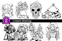 draw lineart drawing illustration by irkurniadi