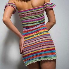 Sexy Crochet Bell Sleeves Top Crop Blouse Cover Up Bikini Summer Beachwear Mandala Granny Squares Hippie Boho Gypsy Carnaby Bohemian Crochet Daisy, Mode Crochet, Crochet Bikini, Knit Crochet, Crochet Clothes, Diy Clothes, Crochet Dresses, Crochet Woman, Crochet Fashion