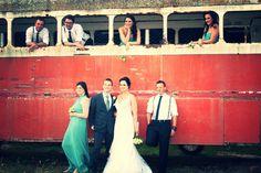 Bus Wedding Photography, Weddings, Dresses, Fashion, Wedding Shot, Gowns, Moda, La Mode, Wedding