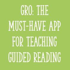 GRO: The Must-Have App For Teaching Guided Reading - Learning at the Primary Pond In this post, I'll show you how you can use the GRO app for teaching guided reading to make planning faster, more efficient, and more effective! Small Group Reading, Guided Reading Groups, Reading Lessons, Reading Resources, Reading Skills, Reading Strategies, Reading Activities, Reading Notes, Kindergarten Reading