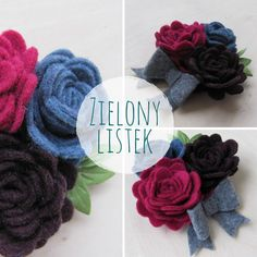 Broszki do zobaczenia na Dawanda lub na blogu #filc #broszka #broszki #komodapomyslow #handmade #diy #felt #feltidea #feltflower #flower #felting #feltcraft Crochet Necklace, Blog, Blogging