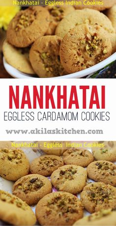 Nankhatai / Eggless Indian Cookies - Learning-to-cook Cookie Desserts, Cupcake Cookies, Cupcakes, Indian Cookies, Eggless Baking, Nutella Recipes, Indian Sweets, Recipe Please, Biscuit Recipe