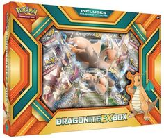 $17.99 - Each box includes a foil card and oversize card featuring Dragonite EX, plus four Pokemon TCG booster packs.