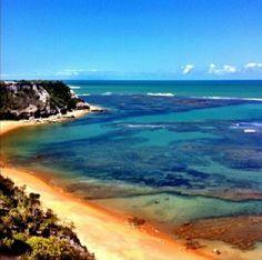 Dica de Destino. Bom dia! A Praia do Espelho, Trancoso na Bahia, amanheceu com essa linda paisagem. Foto: Zethi.