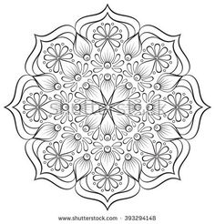 Find Flower Mandalas Vintage Decorative Elements Oriental stock images in HD and millions of other royalty-free stock photos, illustrations and vectors in the Shutterstock collection. Mandala Doodle, Mandala Stencils, Mandala Drawing, Mandala Painting, Dot Painting, Painting Patterns, Mandala Art, Quilt Patterns, Adult Coloring Book Pages